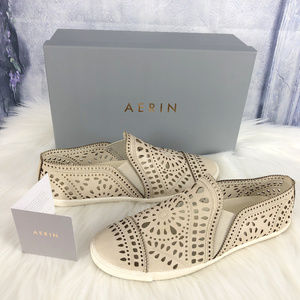 AERIN Liza in Stone Slip on Sneakers 9M with Box